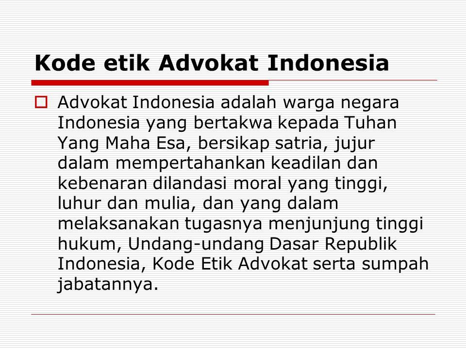 Kode etik Advokat Indonesia