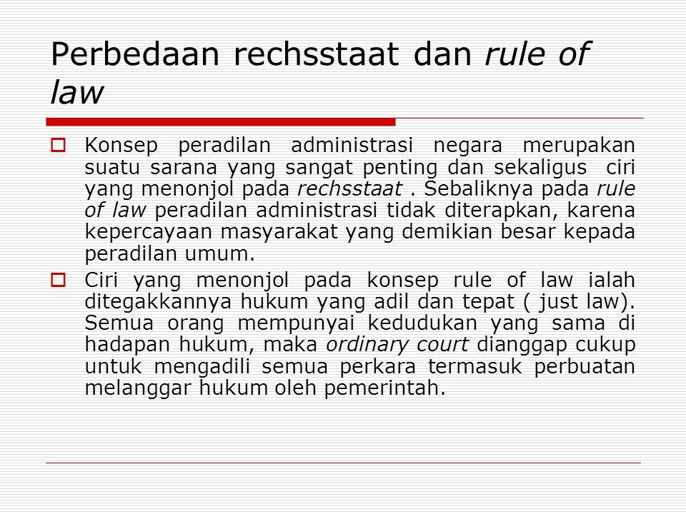 Perbedaan rechsstaat dan rule of law