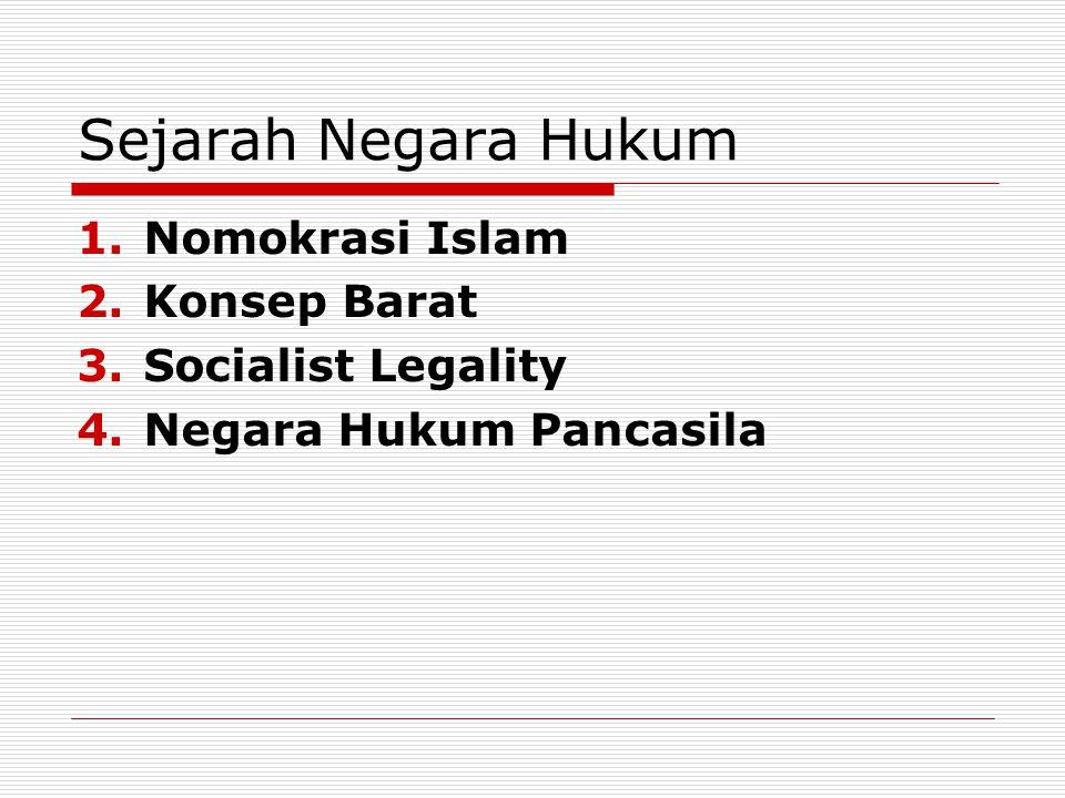 Sejarah Negara Hukum Nomokrasi Islam Konsep Barat Socialist Legality