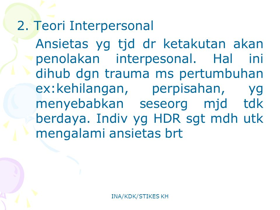 2. Teori Interpersonal
