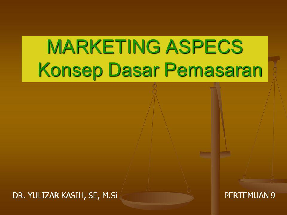 MARKETING ASPECS Konsep Dasar Pemasaran