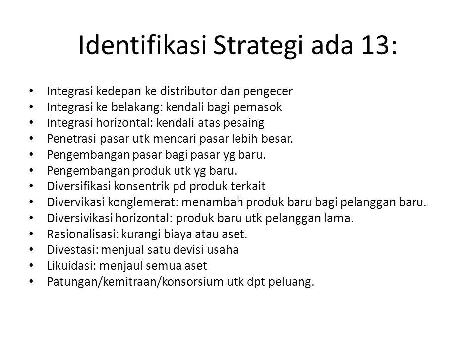 Identifikasi Strategi ada 13:
