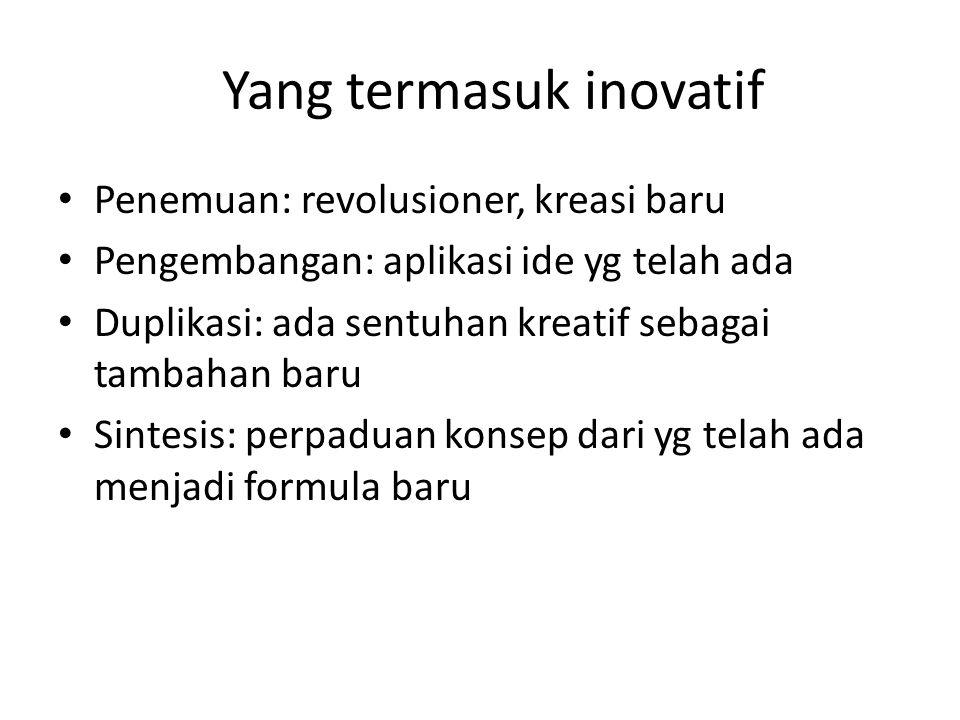 Yang termasuk inovatif