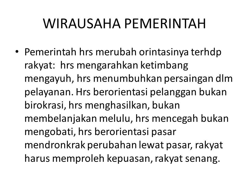 WIRAUSAHA PEMERINTAH
