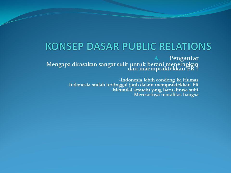KONSEP DASAR PUBLIC RELATIONS