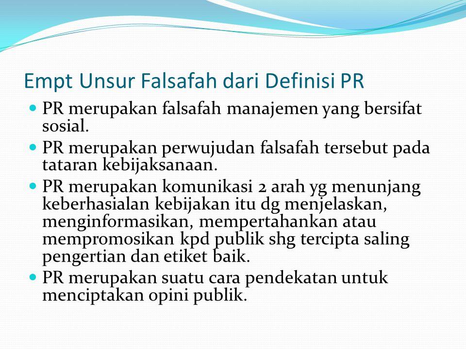 Empt Unsur Falsafah dari Definisi PR
