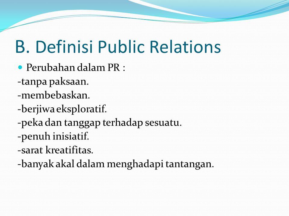 B. Definisi Public Relations