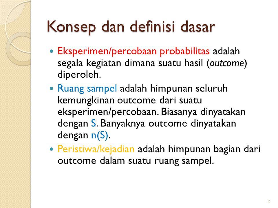 Konsep dan definisi dasar
