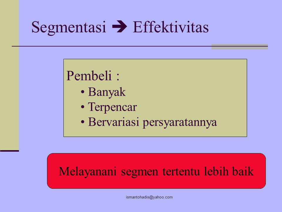 Segmentasi  Effektivitas