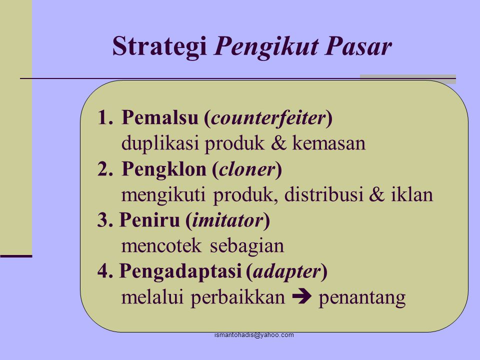 Strategi Pengikut Pasar