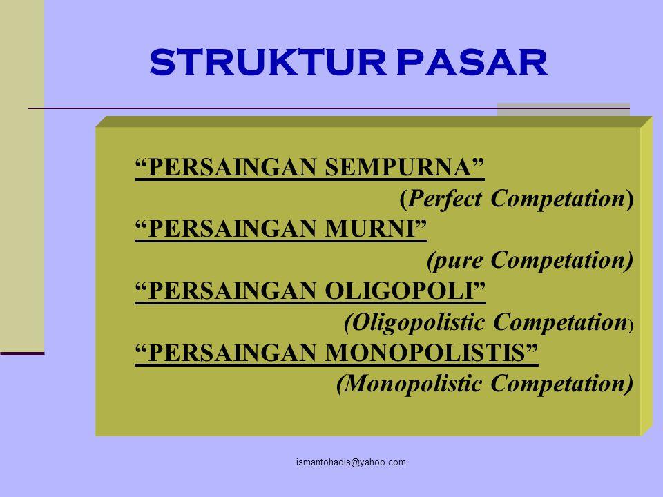 STRUKTUR PASAR PERSAINGAN SEMPURNA (Perfect Competation)