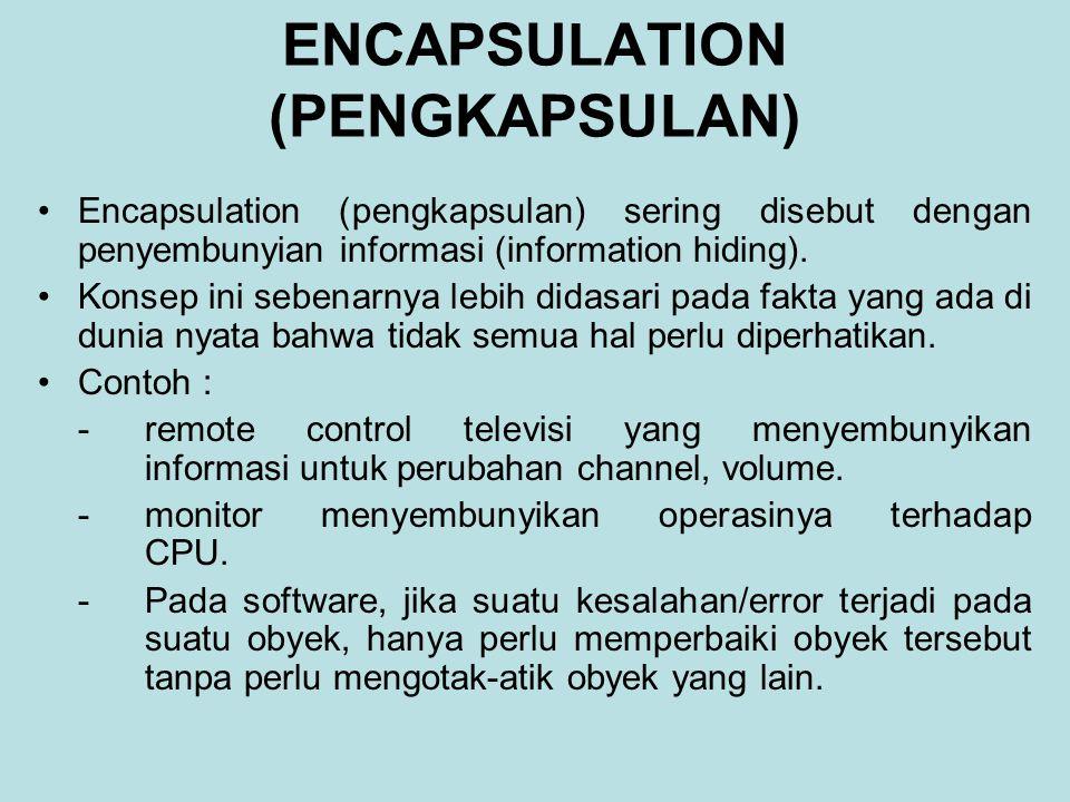 ENCAPSULATION (PENGKAPSULAN)
