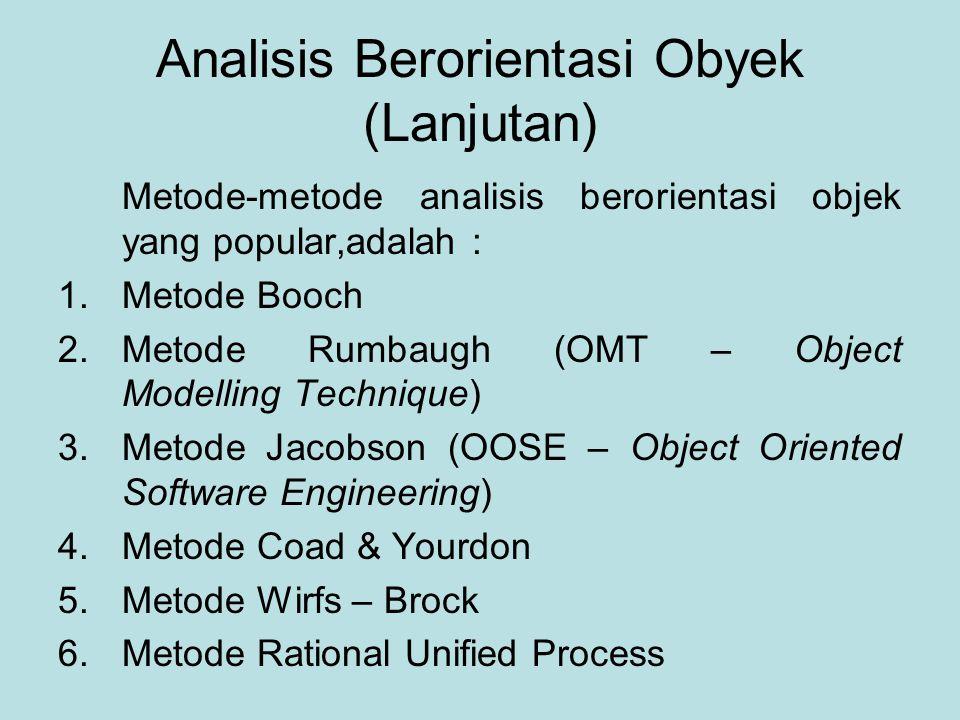 Analisis Berorientasi Obyek (Lanjutan)