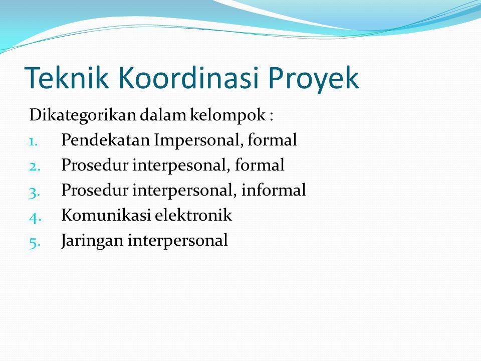 Teknik Koordinasi Proyek