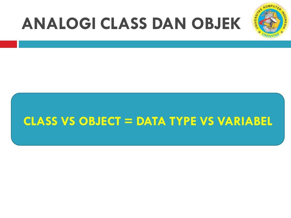 ANALOGI CLASS DAN OBJEK