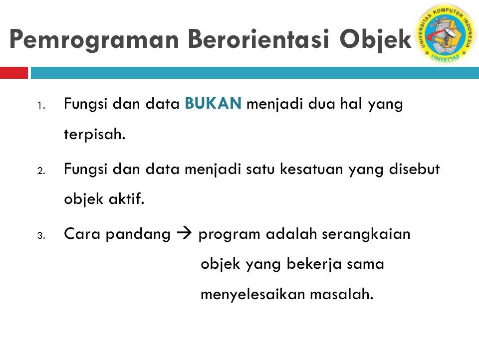 Pemrograman Berorientasi Objek