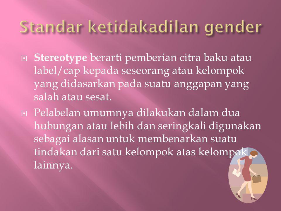 Standar ketidakadilan gender