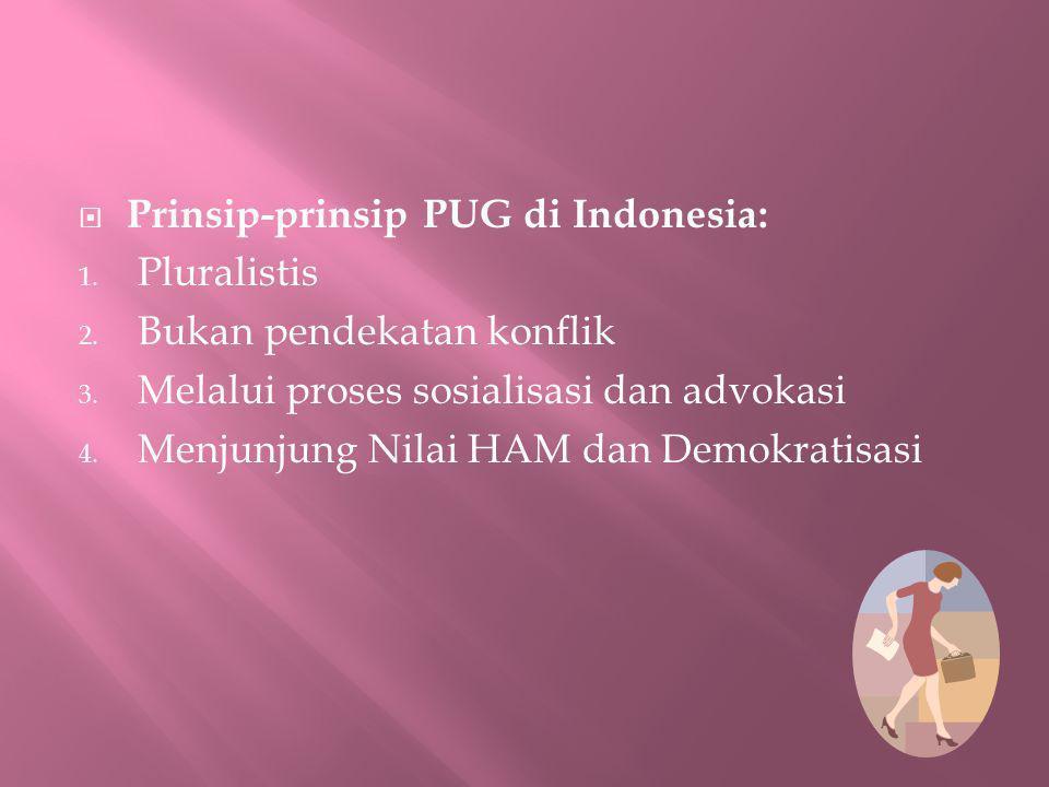 Prinsip-prinsip PUG di Indonesia: