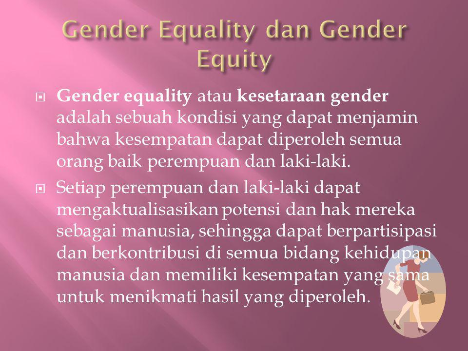 Gender Equality dan Gender Equity