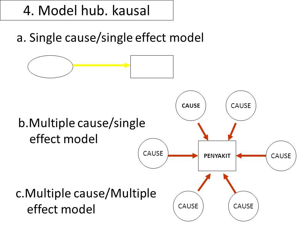4. Model hub. kausal a. Single cause/single effect model