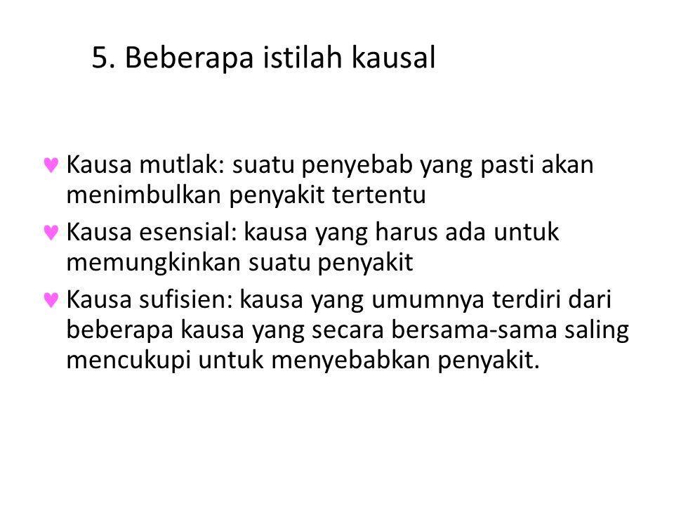 5. Beberapa istilah kausal