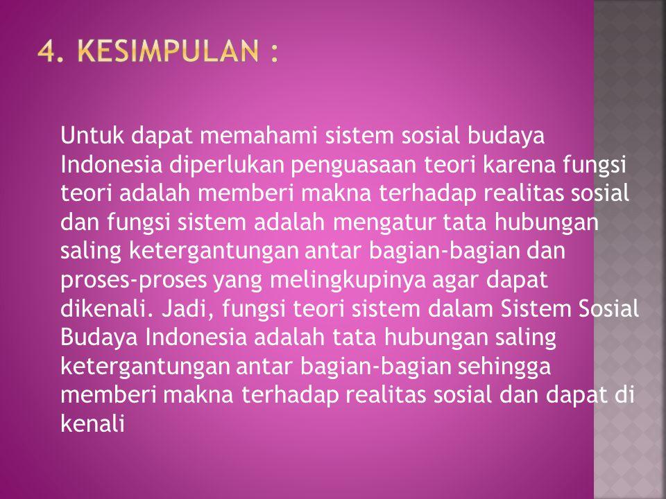 4. KESIMPULAN :