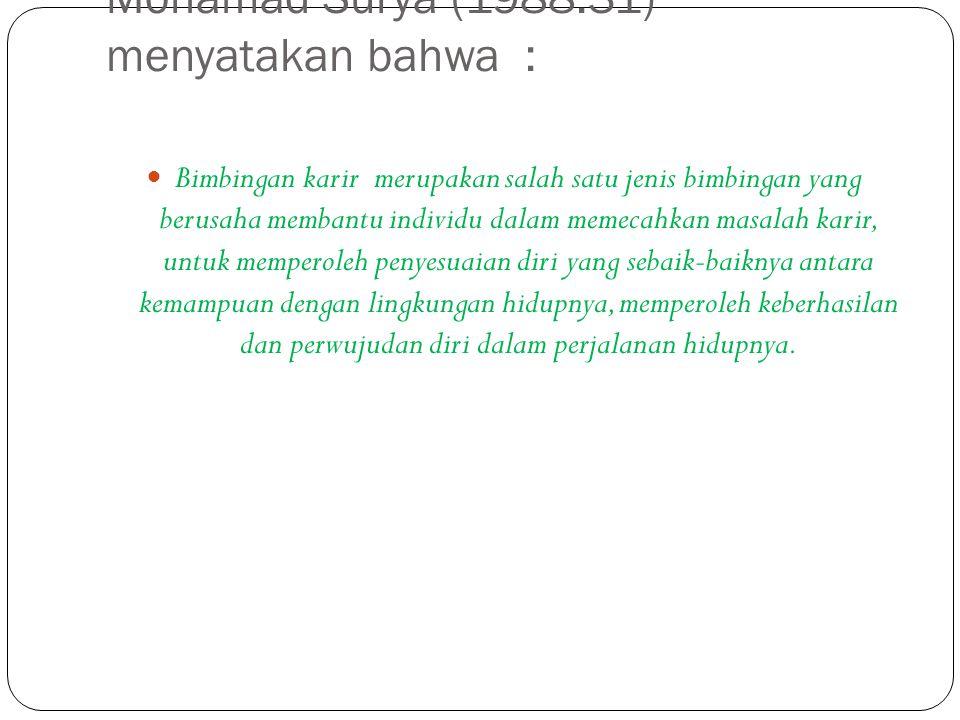 Mohamad Surya (1988:31) menyatakan bahwa :