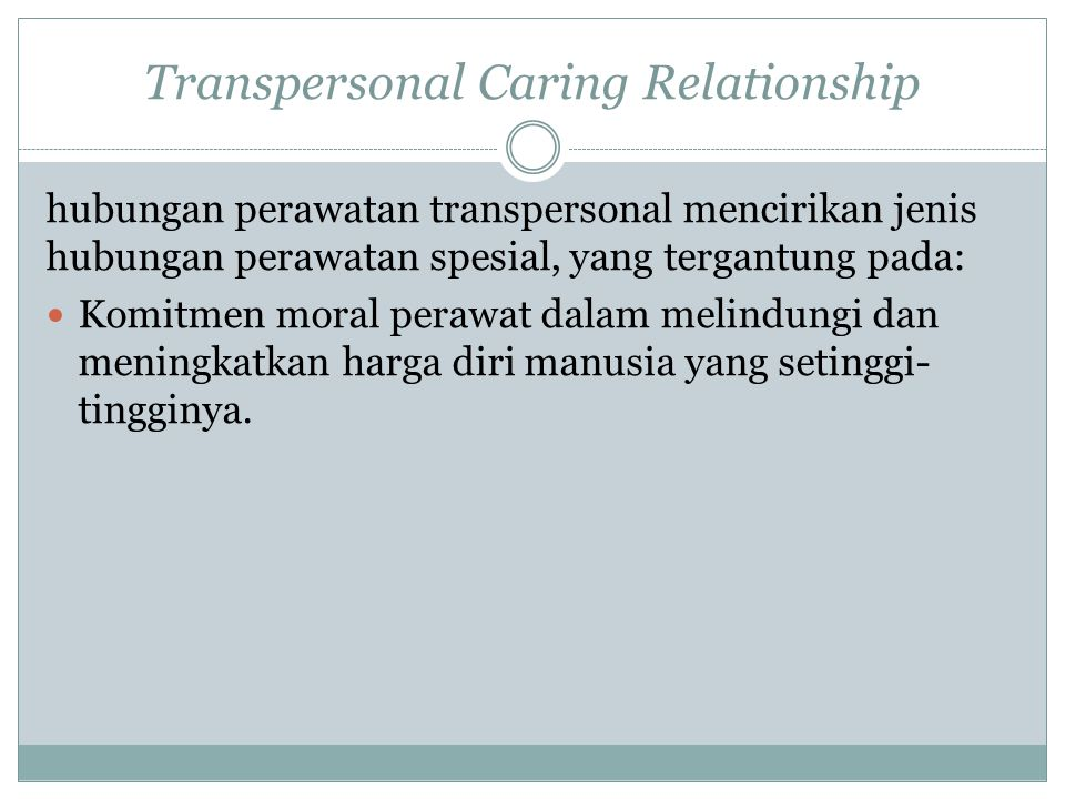 Transpersonal Caring Relationship
