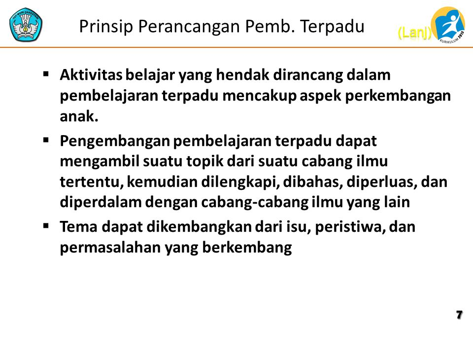 Prinsip Perancangan Pemb. Terpadu