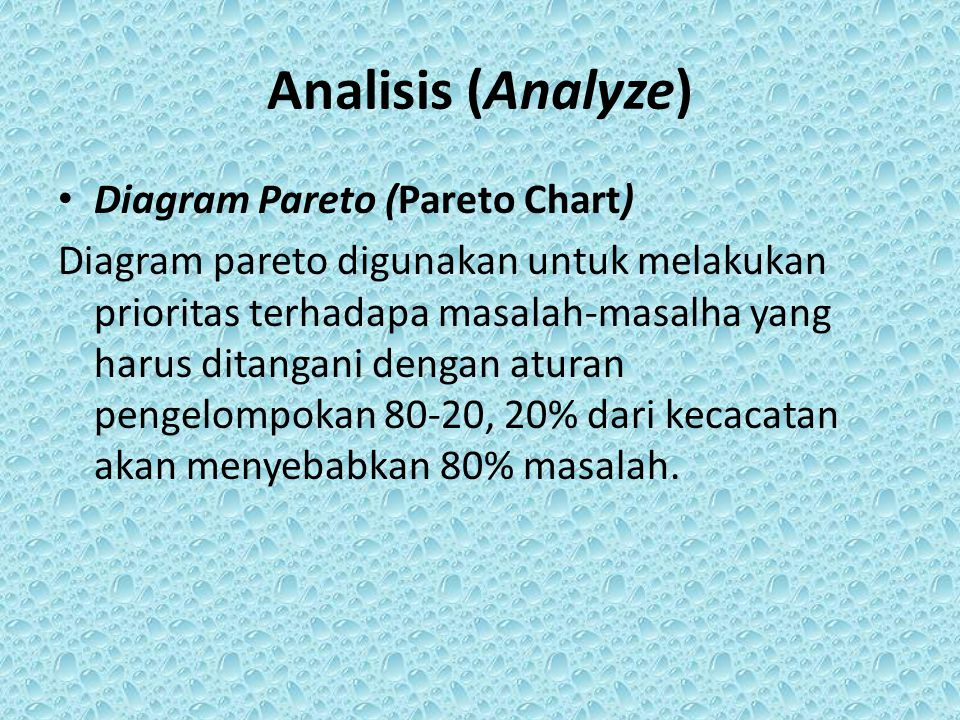 Perkembangan konsep manajemen mutu terpadu tqm six sigma dan ky analisis analyze diagram pareto pareto chart ccuart Image collections