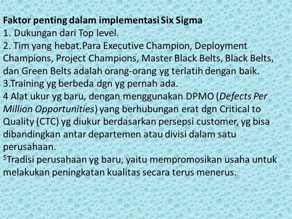 Faktor penting dalam implementasi Six Sigma
