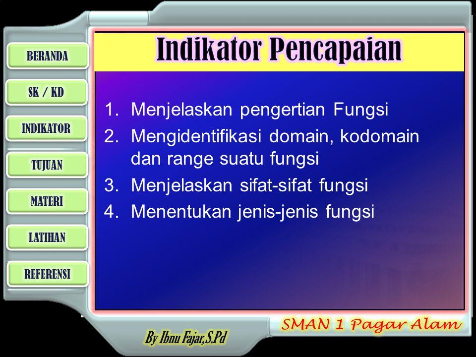 Indikator Pencapaian Menjelaskan pengertian Fungsi