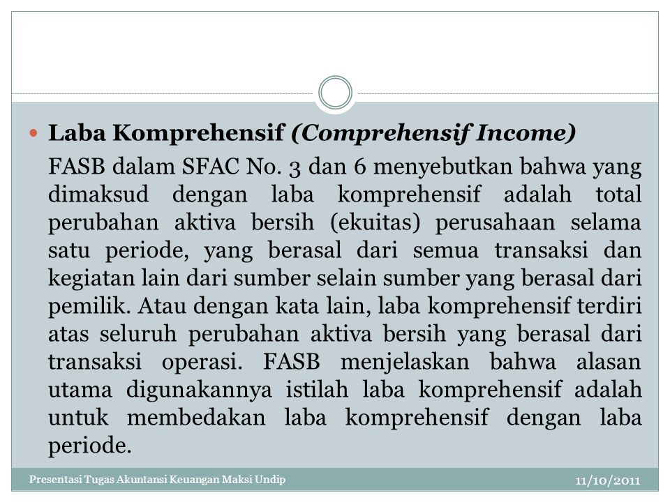 Laba Komprehensif (Comprehensif Income)