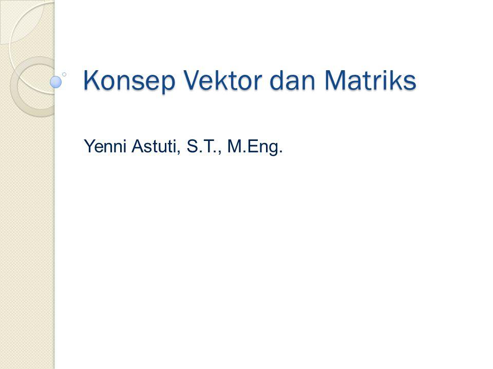 Konsep Vektor dan Matriks