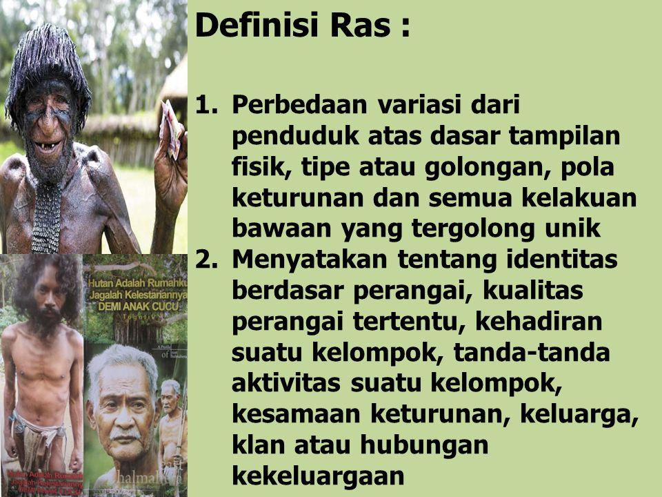 Definisi Ras :