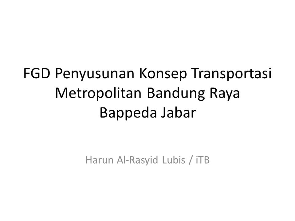 Harun Al-Rasyid Lubis / iTB