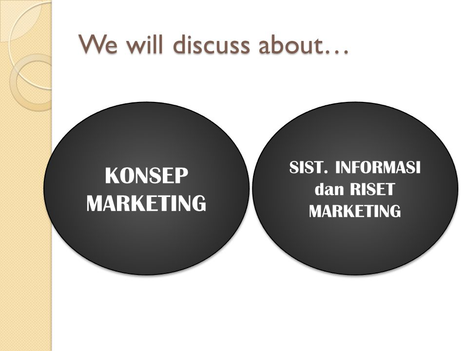 SIST. INFORMASI dan RISET MARKETING