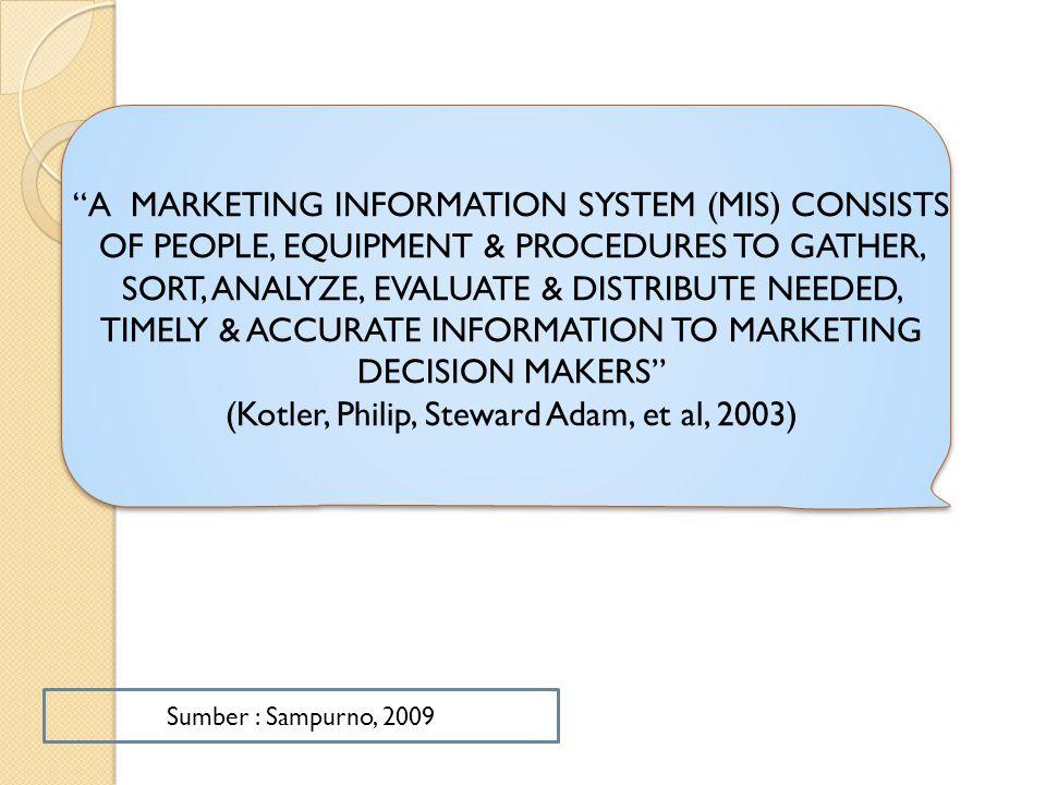 (Kotler, Philip, Steward Adam, et al, 2003)