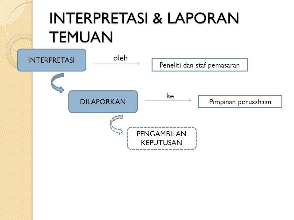INTERPRETASI & LAPORAN TEMUAN
