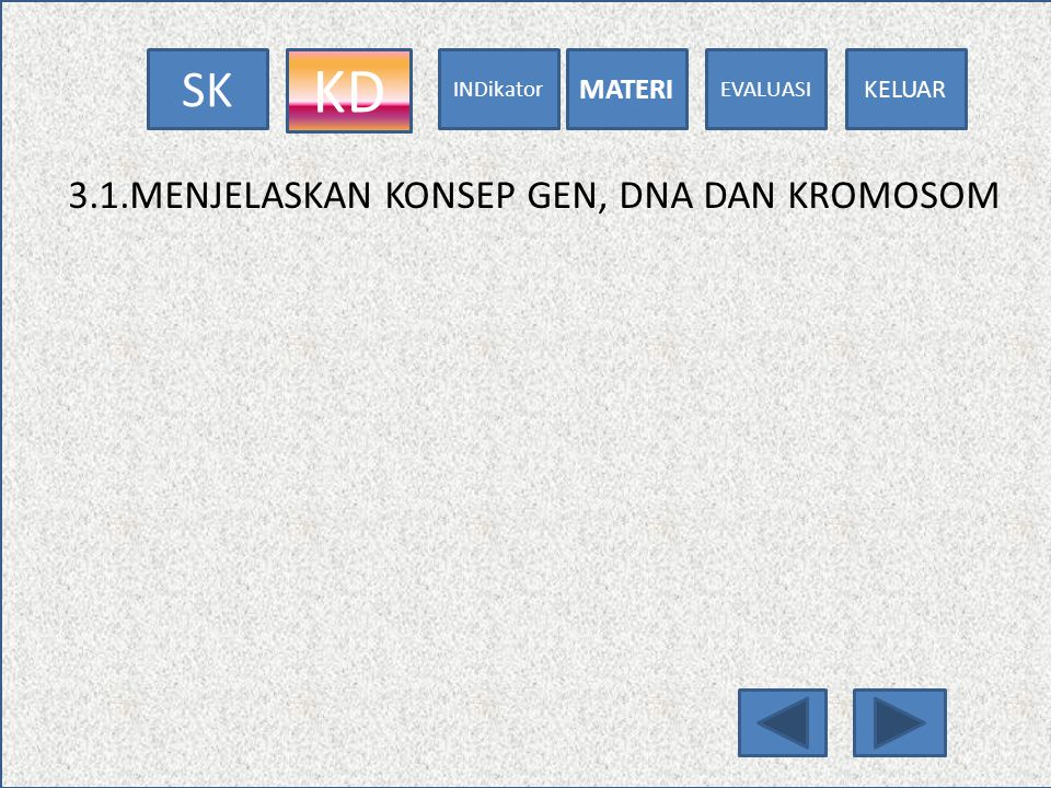 KD 3.1.MENJELASKAN KONSEP GEN, DNA DAN KROMOSOM