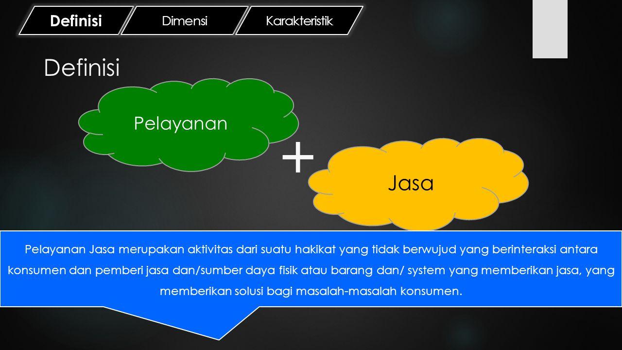+ Definisi Jasa Pelayanan Definisi Dimensi Karakteristik