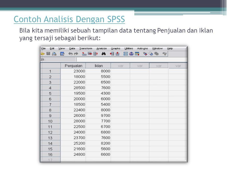 Contoh Analisis Dengan SPSS