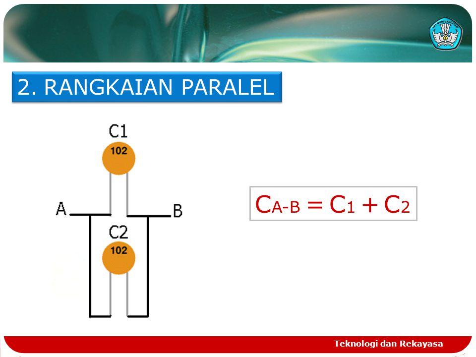 RANGKAIAN PARALEL CA-B = C1 + C2 Teknologi dan Rekayasa