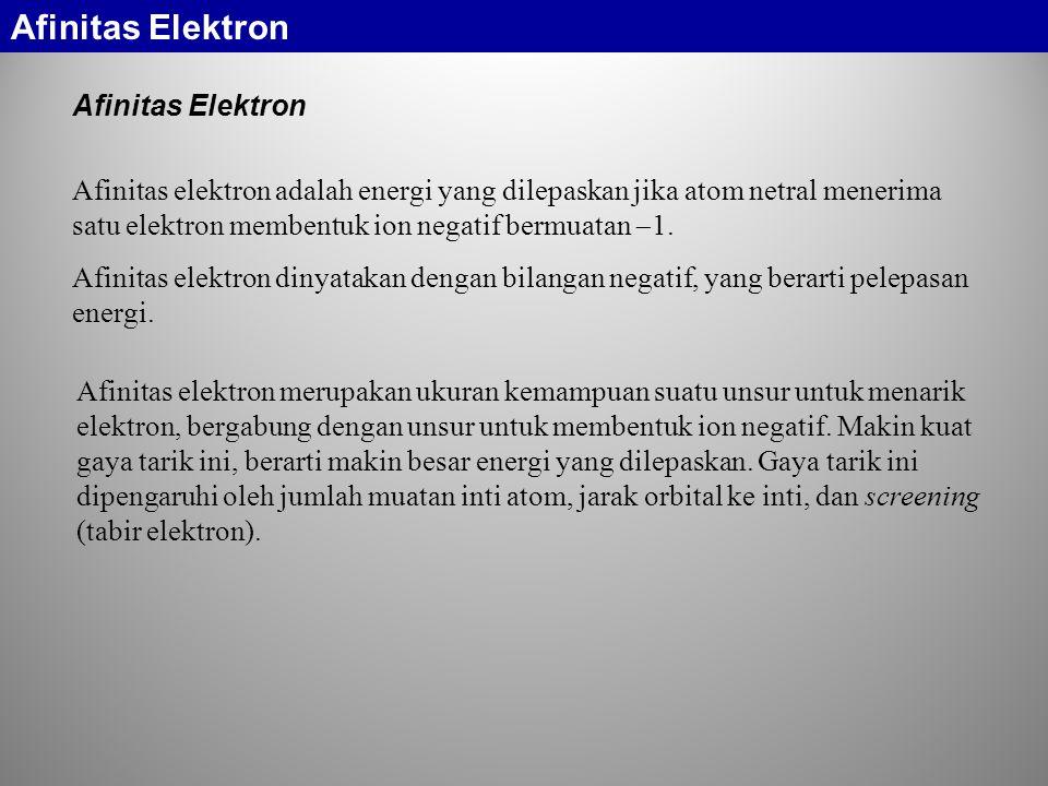 Afinitas Elektron Afinitas Elektron