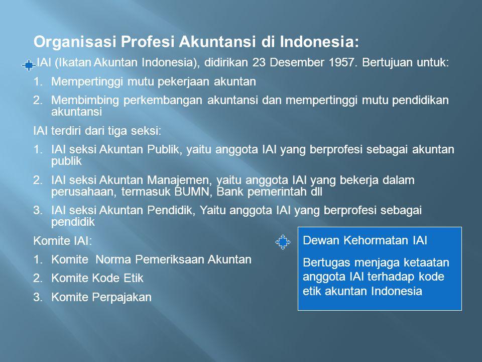 Organisasi Profesi Akuntansi di Indonesia: