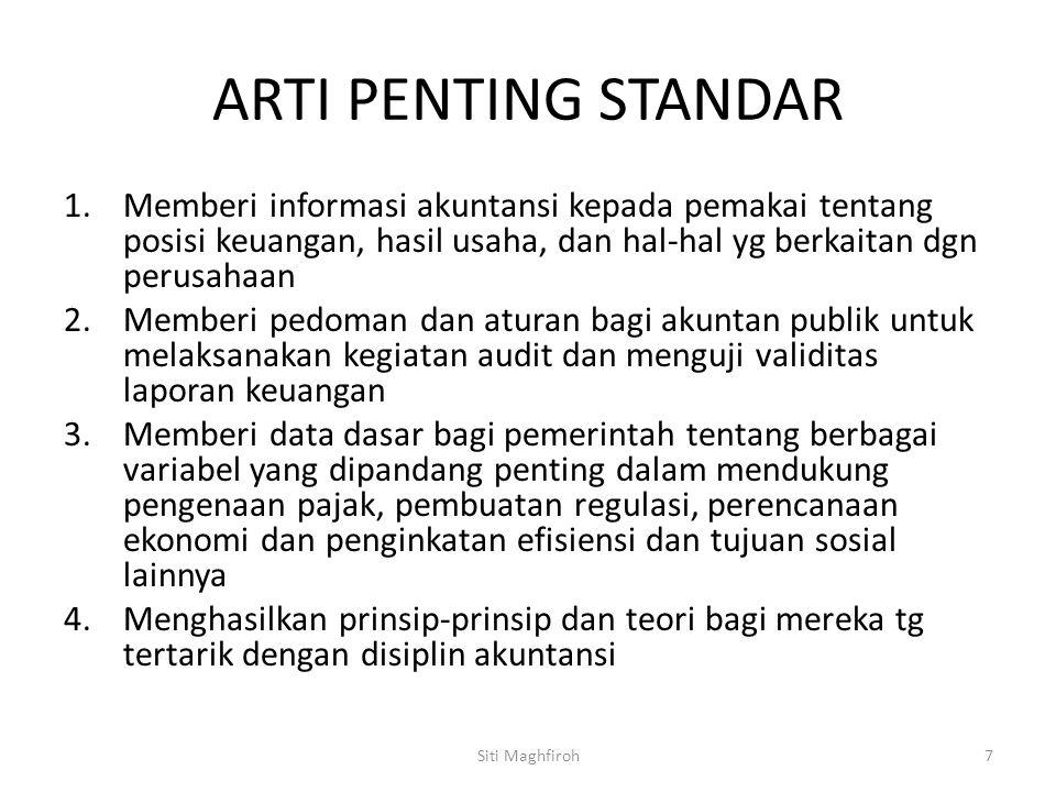 STANDAR AKUNTANSI ARTI PENTING STANDAR.