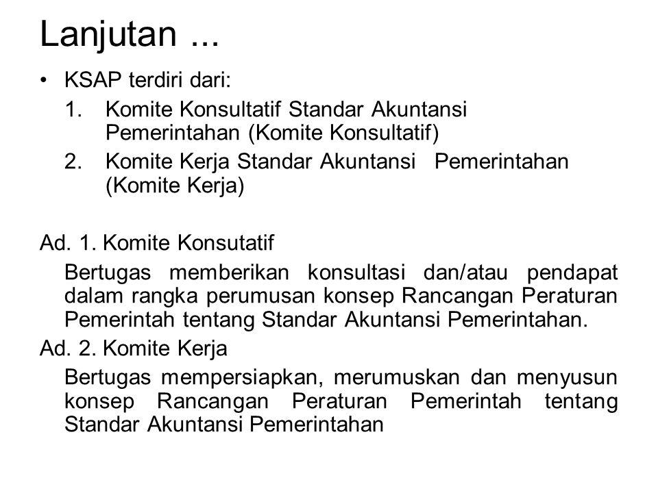 Lanjutan ... KSAP terdiri dari: