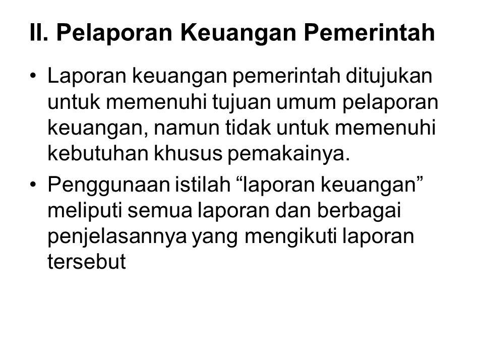 II. Pelaporan Keuangan Pemerintah