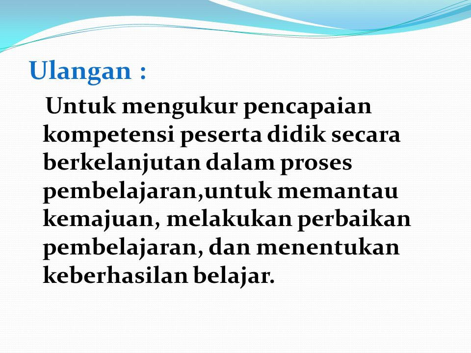 Ulangan :