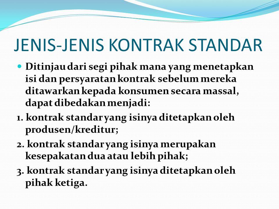 JENIS-JENIS KONTRAK STANDAR